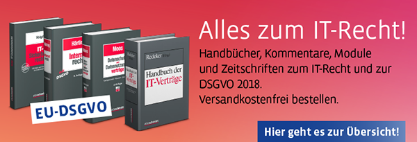 Alles zur DSGVO und zum IT-Recht 2018.