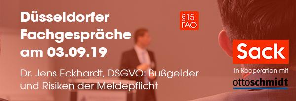 DSGVO - Bußgelder und Risiken der Meldepflicht bei Datenpannen. Hier informierne und anmelden!